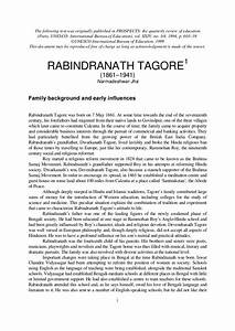 short paragraph on rabindranath tagore in english