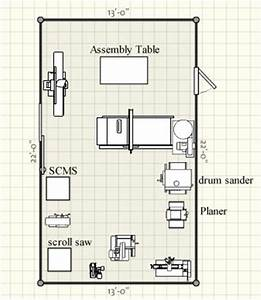 Photo : Small Woodworking Shop Floor Plans Images Tiny
