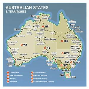 Large Detailed Australia States And Territories Map