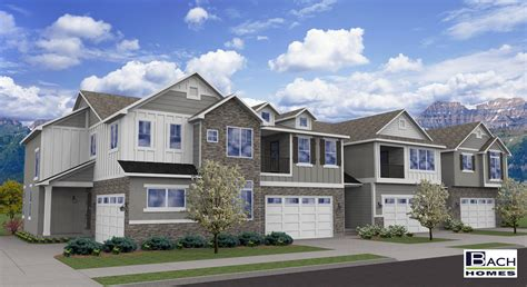 creekside townhomes west ut bach homes
