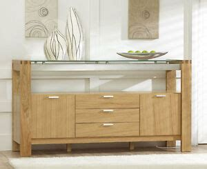 Glass Sideboards For Dining Room by Vegas Solid Oak And Glass Dining Room Furniture 3 Drawer
