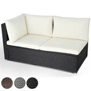polyrattan sofa wicker corner polyrattan sofa garden lounge back cushions patio outdoor ebay