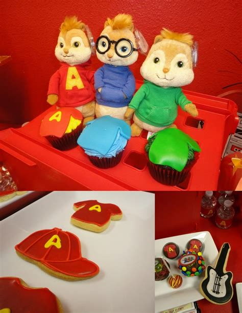 Alvin And The Chipmunks Cake Toppers Uk by Mkr Creations Alvin And The Chipmunks Theme
