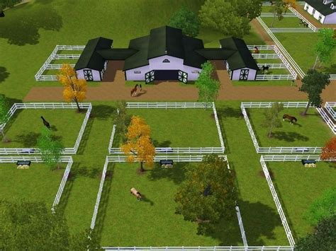 barn layout horse farm stalls barns stables stall minecraft paddock plans dream aisle mare pen sims attached center setup farms