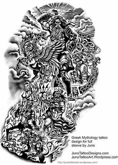 Tattoos Tattoo Sleeve Poseidon Tatoo Mythologie Greek