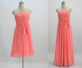 order wedding dress coral bridesmaid dress make to order by 50timeless on etsy