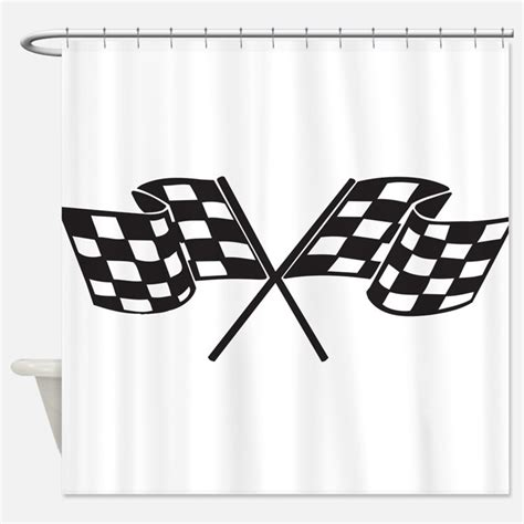 checkered flag shower curtains checkered flag fabric