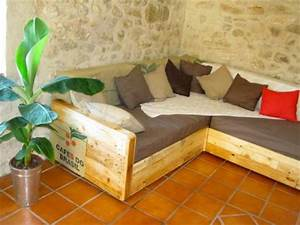 simple diy pallet sofa bed furniture pallets designs With wooden sectional sofa plans