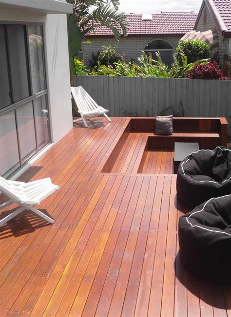 gold coast timber deck  outdoor spa