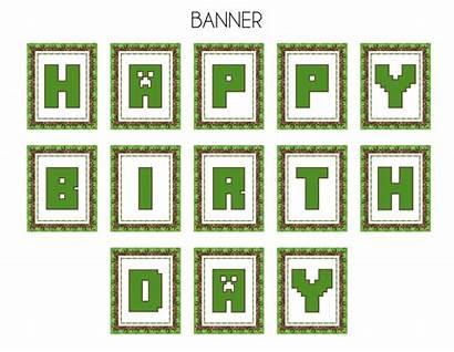Minecraft Printable Clipart Transparent Birthday Printables Party