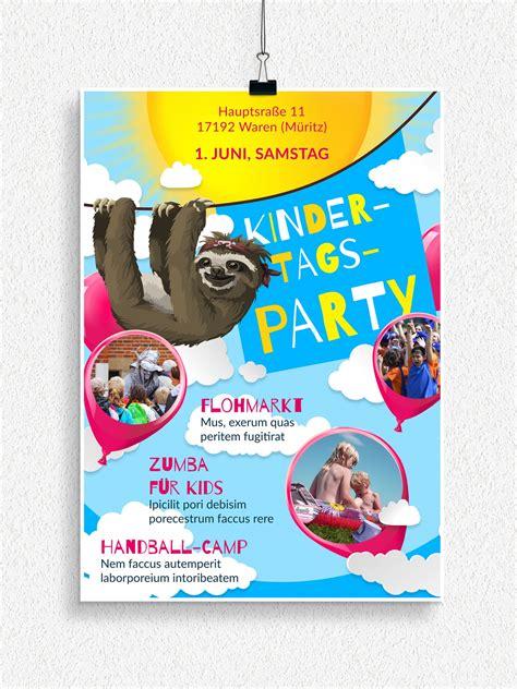 flyer und plakatvorlagen zum neptunfest und kindertag
