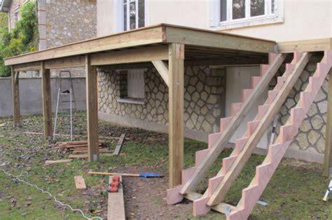 terrasse bois sur pilotis