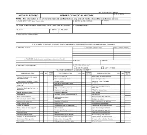 medical report templates docs  word apple