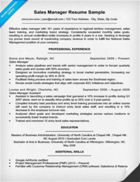 Sle Advertising Project Manager Resume by Marketing Manager Resume Sle Resume Companion