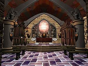 Fantasy castle interior gothic medieval palace, ( 3ds) 3D