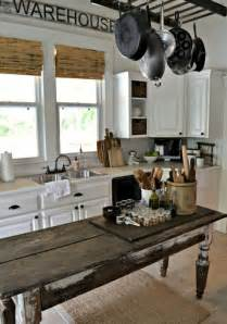 kitchen island farm table 35 cozy and chic farmhouse kitchen décor ideas digsdigs