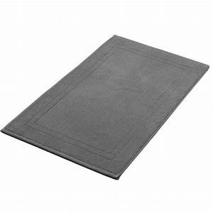tapis de bain anthracite 50x80 cm 900gr m2 la compagnie With tapis de bain gris anthracite