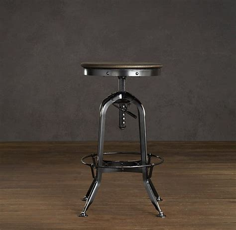 Vintage Toledo Bar Chair Distressed Black by Vintage Toledo Barstool Distressed Black Cr