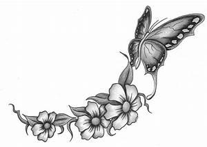 butterfly w flowers 2 by markfellows on DeviantArt