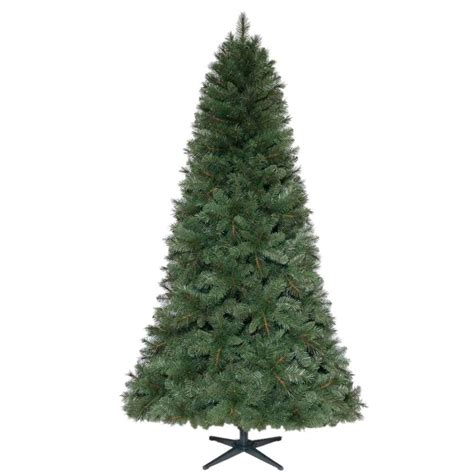 home accents holiday 7 5 ft unlit wesley mixed spruce