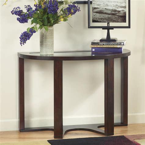 signature design  ashley marion   demilune sofa table john  schultz furniture sofa