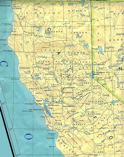 california outline maps  map links