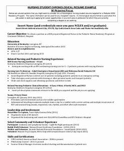 Nursing Objectives For Resumes Free 8 Sample Student Nurse Resume Templates In Ms Word Pdf