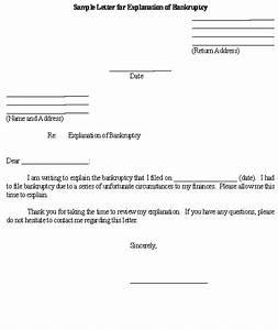 Sample letter for explanation of bankruptcy template for Bankruptcy letter of explanation template