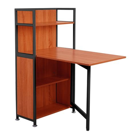 compact desk with storage life carver compact computer desk 4 storage shelves with