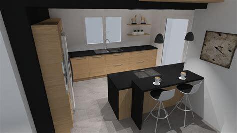 en cuisine cuisine moderne en bois