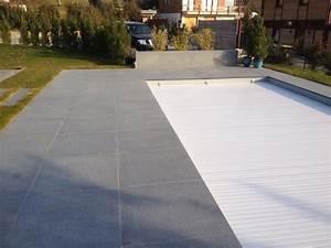 Terrasse En Caillebotis : terrasse en pierres naturelles granit gris et caillebotis ~ Premium-room.com Idées de Décoration