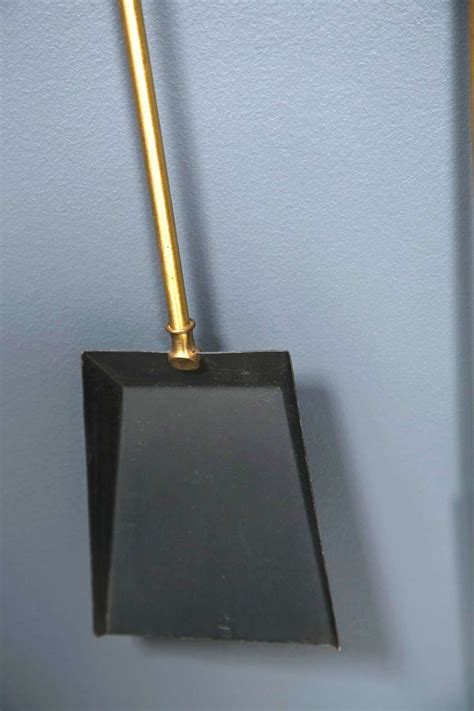 Fireplace Stamford Ct by 1960 S Brass Wall Mount Fireplace Tools At 1stdibs