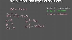 The Discriminant and 2 Real Solutions Examples - YouTube