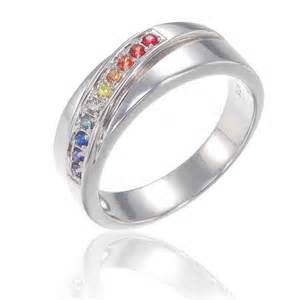 lgbt wedding rings lgbt pride ring engagement wedding band sterling silver by equalli