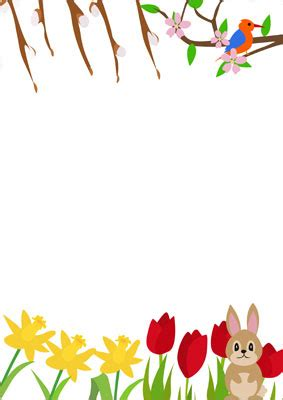 spring notepaper  early years primary teaching