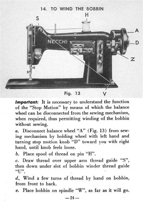 Threading Necchi Nova Sewing Machine