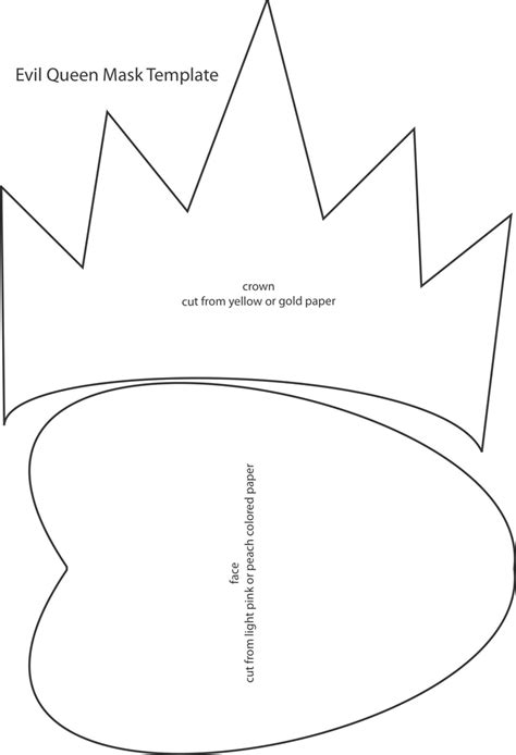 evil queen mask template  kb  pages