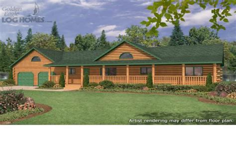 ranch style log home plans ranch style log homes  wrap  porch ranch log home floor