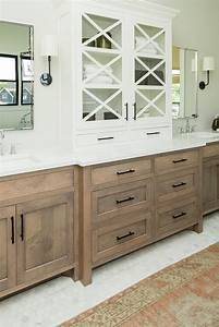 A, Master, Bathroom, With, Custom, His, And, Hers, Cabinetry