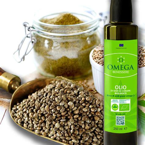 olio  canapa benessere  lorganismo ricco  omega