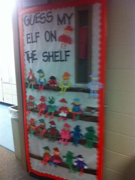 Scary Cubicle Halloween Decorating Ideas by Run Teacher Run Elf On The Shelf Door Decorating Idea