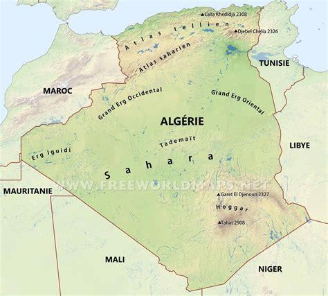 Carte Geographique Villes Algerie by Carte De L Alg 233 Rie