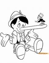 Pinocchio Jiminy Coloring Cricket Pages Disneyclips Pdf Figaro Funstuff sketch template
