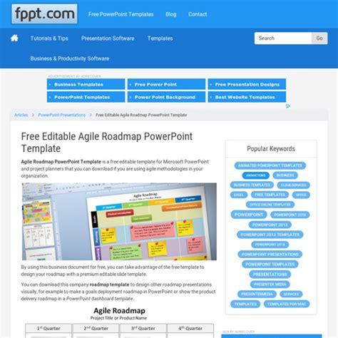 editable agile roadmap powerpoint template pearltrees