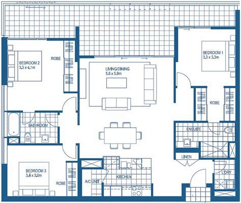 3 bedroom floor plan 3 bedroom floorplans harbour lights cairns apartment