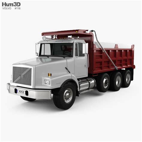 2007 volvo truck models volvo wg dump truck 4 axle 2007 3d model hum3d