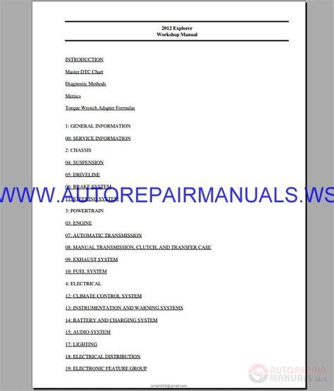 ford explorer   workshop manual auto repair