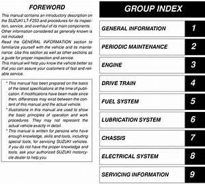 2003 Suzuki Lt F250 Service Repair Manual Download
