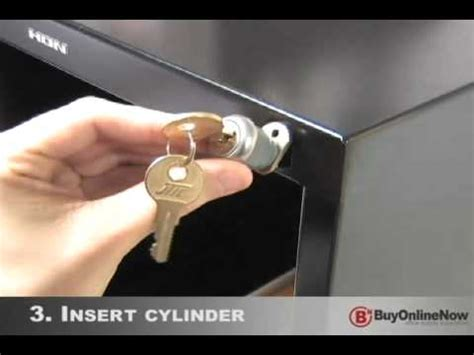how to pick a hon file cabinet lock how to install file cabinet lock youtube