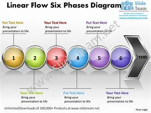 Business Power Point Templates Linear Flow Six Phases